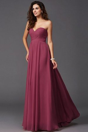 A-Line Sleeveless Chiffon Empire Waist Bridesmaid Dress - 3