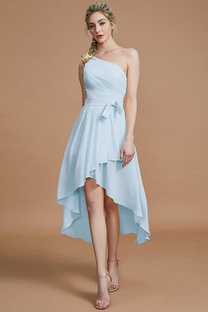 Asymmetrical Chiffon Natural Waist Bridesmaid Dress - 23