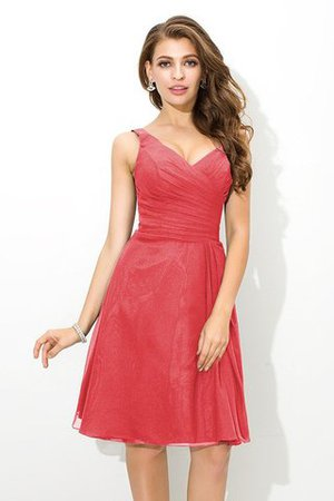Chiffon Princess Sleeveless Natural Waist Draped Bridesmaid Dress - 28