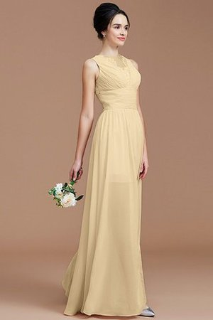 Ruched Zipper Up Natural Waist Jewel Sleeveless Bridesmaid Dress - 11