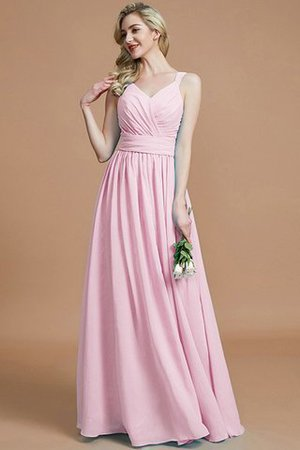 Sleeveless Natural Waist A-Line V-Neck Bridesmaid Dress - 28