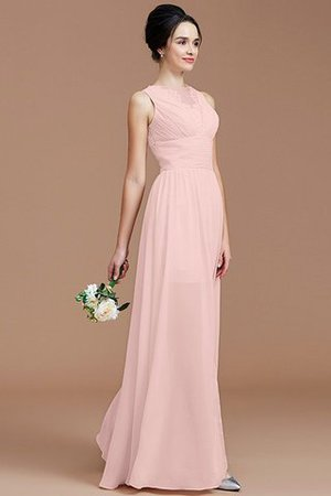 Ruched Zipper Up Natural Waist Jewel Sleeveless Bridesmaid Dress - 27