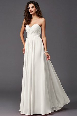A-Line Sleeveless Chiffon Empire Waist Bridesmaid Dress - 17