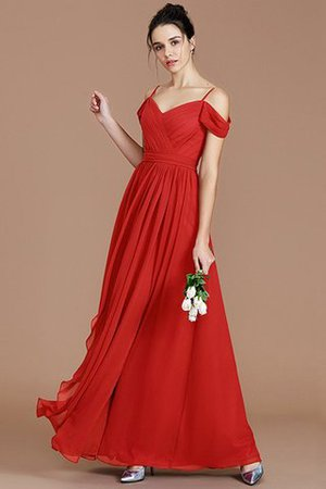 Chiffon Floor Length A-Line Ruched Bridesmaid Dress - 29