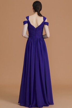 Natural Waist A-Line Ruched Floor Length Bridesmaid Dress - 2