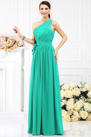 Long Sleeveless A-Line One Shoulder Bridesmaid Dress - 14