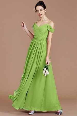 Chiffon Floor Length A-Line Ruched Bridesmaid Dress - 20