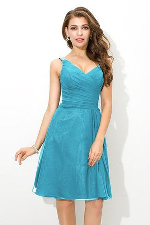 Chiffon Princess Sleeveless Natural Waist Draped Bridesmaid Dress - 3