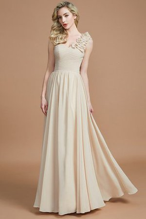 Sleeveless Natural Waist One Shoulder A-Line Chiffon Bridesmaid Dress - 5