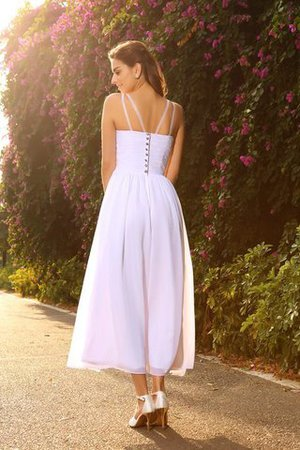 Chiffon Empire Waist V-Neck Princess Sleeveless Wedding Dress - 2