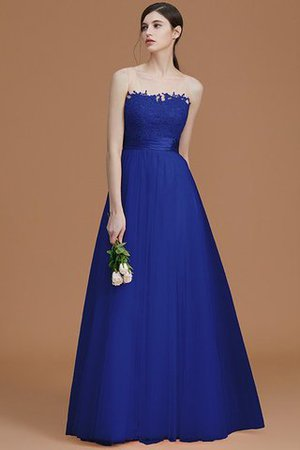 Tulle Zipper Up A-Line Appliques Bridesmaid Dress - 31