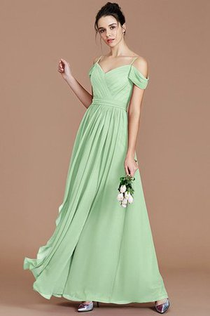 Chiffon Floor Length A-Line Ruched Bridesmaid Dress - 32