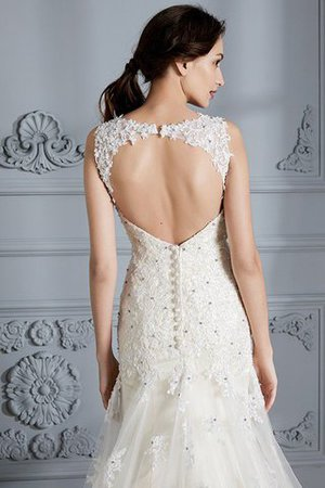 Mermaid Sweetheart Sleeveless Lace Court Train Wedding Dress - 8
