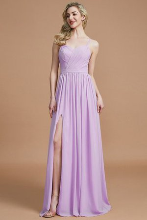 Natural Waist Sleeveless Floor Length Princess Chiffon Bridesmaid Dress - 26