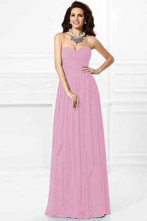 A-Line Zipper Up Long Floor Length Bridesmaid Dress - 25