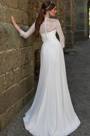 A-Line Chiffon Informal & Casual Zipper Up Beach Wedding Dress - 2