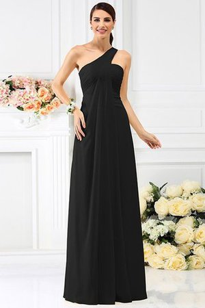 Zipper Up Long Floor Length A-Line Bridesmaid Dress - 2