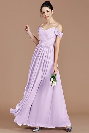 Chiffon Floor Length A-Line Ruched Bridesmaid Dress - 25