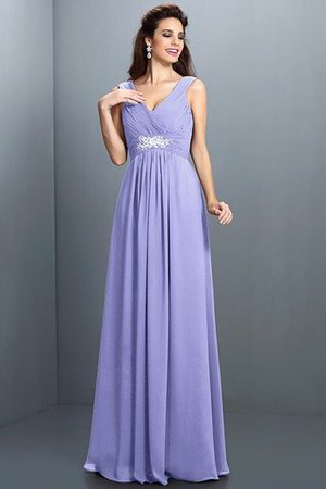 A-Line Chiffon Long Sleeveless Bridesmaid Dress - 17