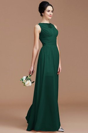 Ruched Zipper Up Natural Waist Jewel Sleeveless Bridesmaid Dress - 14