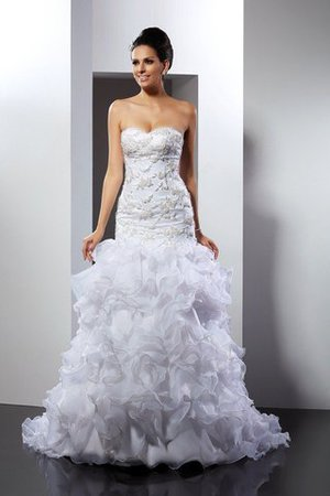 Sleeveless Empire Waist Sweetheart Long Chapel Train Wedding Dress - 1
