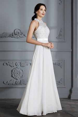Natural Waist Sleeveless Floor Length Princess Chiffon Wedding Dress - 5