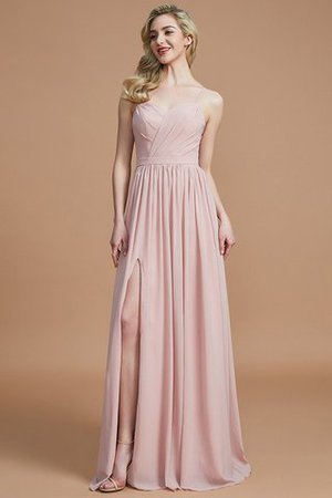 Natural Waist Sleeveless Floor Length Princess Chiffon Bridesmaid Dress - 25