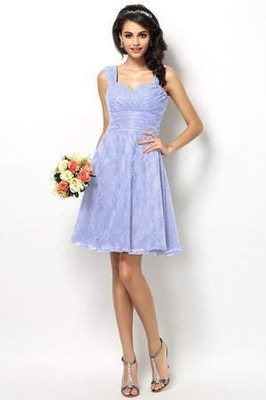 Wide Straps Short Sleeveless Natural Waist Satin Bridesmaid Dress - 17
