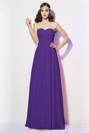 Pleated Zipper Up Empire Waist A-Line Bridesmaid Dress - 23