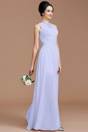 Ruched Zipper Up Natural Waist Jewel Sleeveless Bridesmaid Dress - 23