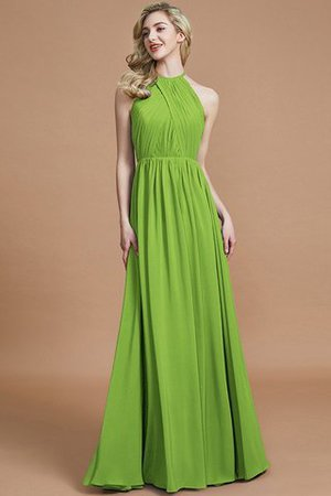 Sleeveless Floor Length A-Line Scoop Bridesmaid Dress - 19