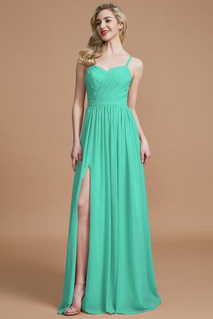 Natural Waist Sleeveless Floor Length Princess Chiffon Bridesmaid Dress - 20