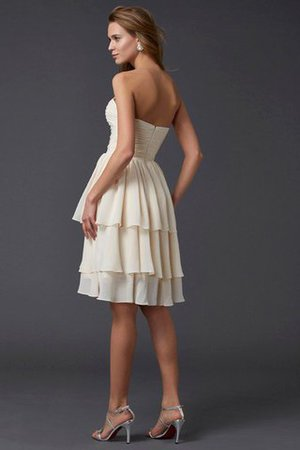 Short Chiffon Sheath Sleeveless Zipper Up Bridesmaid Dress - 30