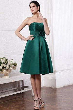 Zipper Up Princess Short Flowers Pleated Bridesmaid Dress - 7
