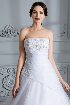 Ball Gown Natural Waist Organza Sleeveless Court Train Wedding Dress - 6