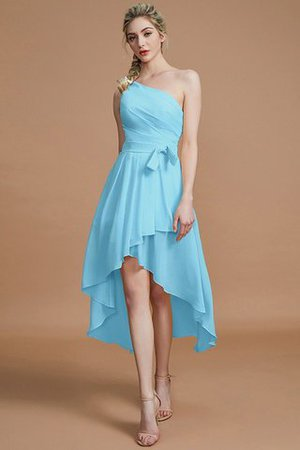 Asymmetrical Chiffon Natural Waist Bridesmaid Dress - 9