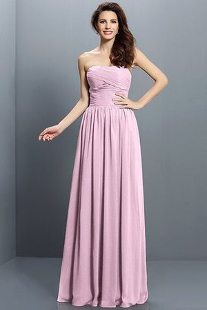 Strapless A-Line Pleated Zipper Up Bridesmaid Dress - 22