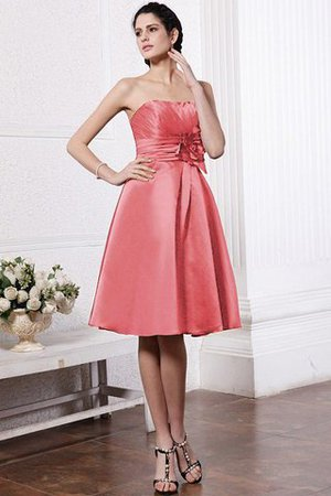 Zipper Up Princess Short Flowers Pleated Bridesmaid Dress - 28