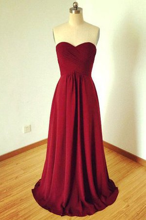 A-Line Chiffon Sleeveless Sweetheart Natural Waist Bridesmaid Dress - 1