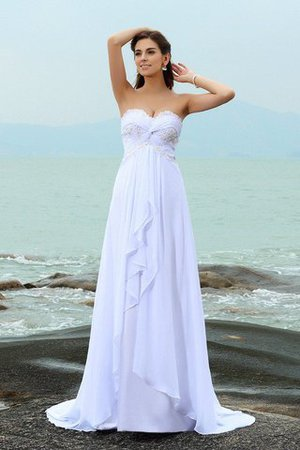 Zipper Up Princess Sweetheart Sleeveless Empire Waist Wedding Dress - 1