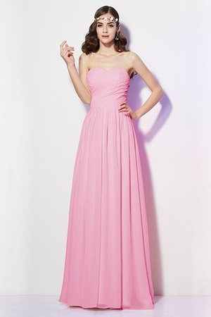Pleated Zipper Up Empire Waist A-Line Bridesmaid Dress - 21