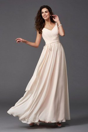 Sashes Floor Length Spaghetti Straps A-Line Bridesmaid Dress - 1