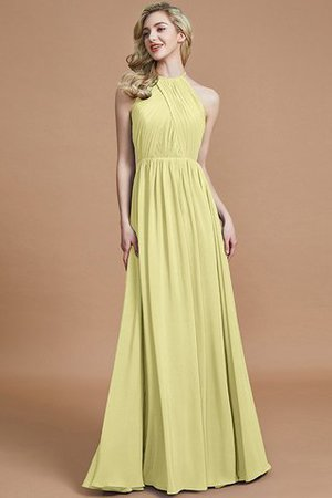 Sleeveless Floor Length A-Line Scoop Bridesmaid Dress - 13