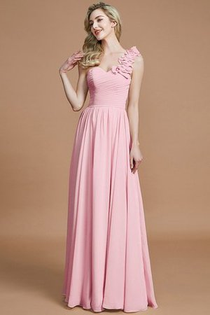 Sleeveless Natural Waist One Shoulder A-Line Chiffon Bridesmaid Dress - 27