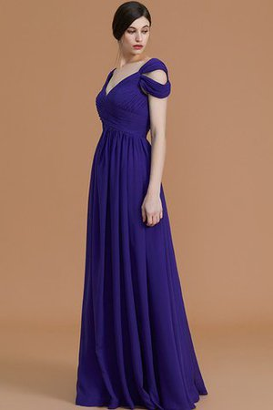 Natural Waist A-Line Ruched Floor Length Bridesmaid Dress - 7
