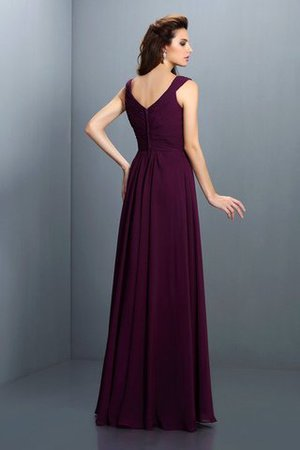 A-Line Chiffon Long Sleeveless Bridesmaid Dress - 30