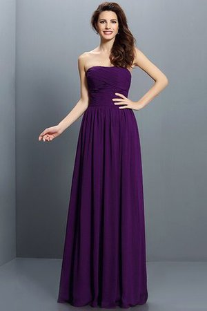 Strapless A-Line Pleated Zipper Up Bridesmaid Dress - 13