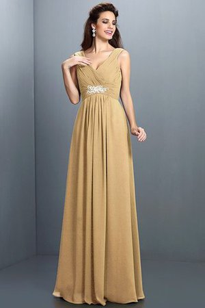 A-Line Chiffon Long Sleeveless Bridesmaid Dress - 13