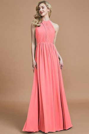 Sleeveless Floor Length A-Line Scoop Bridesmaid Dress - 33