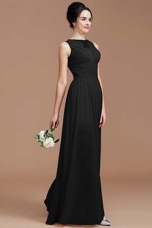 Ruched Zipper Up Natural Waist Jewel Sleeveless Bridesmaid Dress - 21